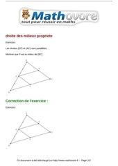 exercices droite des milieux propriete maths quatrieme 420
