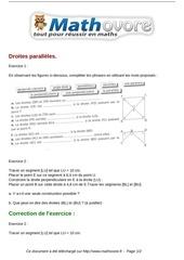 Fichier PDF exercices droites paralleles maths sixieme 118
