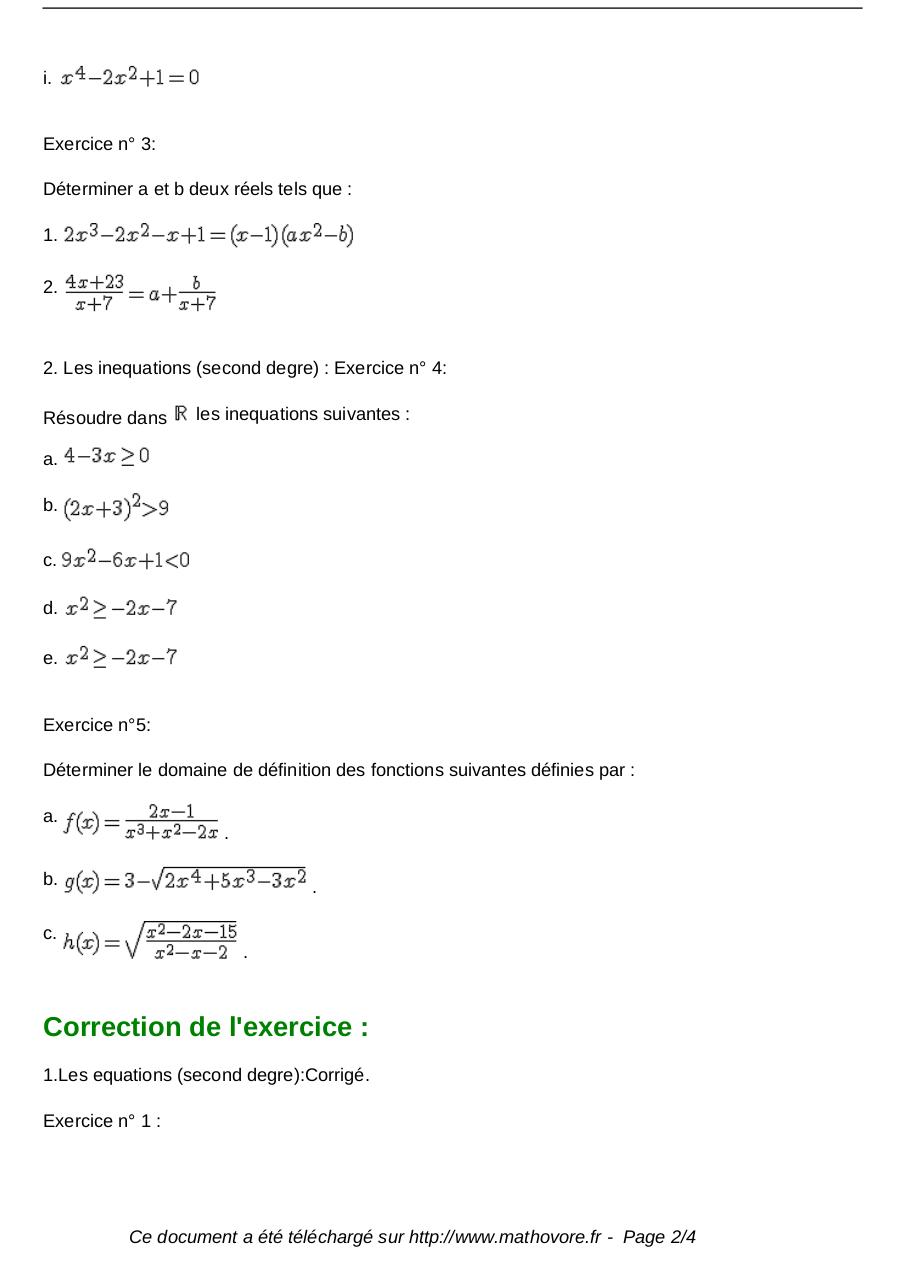 exercices-equations-et-second-degre-maths-premiere-132.pdf - page 2/4