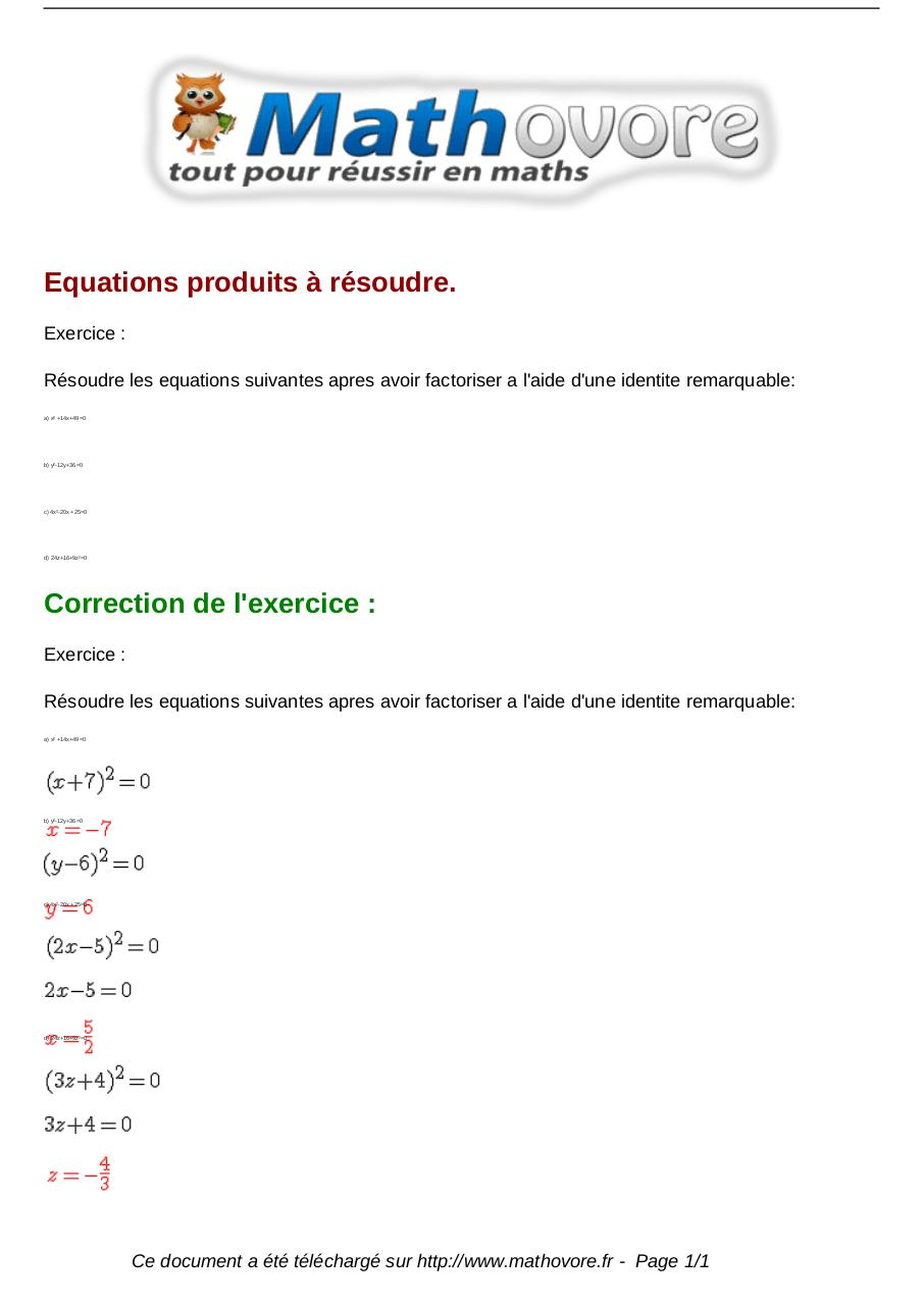 Aperçu du document exercices-equations-produits-a-resoudre-maths-troisieme-812.pdf - page 1/1
