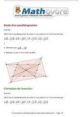 exercices etude d un parallelogramme maths seconde 982