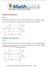 Fichier PDF exercices etude d un pave droit maths premiere 1141