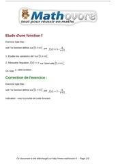 Fichier PDF exercices etude d une fonction f maths terminale 1406