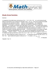 Fichier PDF exercices etude d une fonction maths seconde 442
