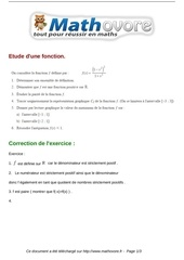 exercices etude d une fonction maths seconde 98