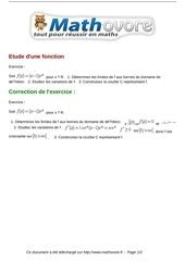 Fichier PDF exercices etude d une fonction maths terminale 1162
