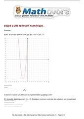 exercices etude d une fonction numerique maths seconde 864