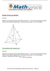 exercices etude d une pyramide maths premiere 1140
