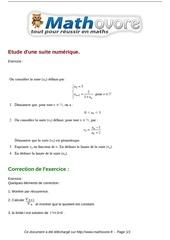 exercices etude d une suite numerique maths terminale 60