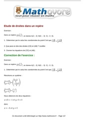 Fichier PDF exercices etude de droites dans un repere maths seconde 996