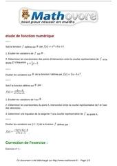 exercices etude de fonction numerique maths premiere 517
