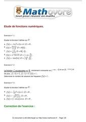 Fichier PDF exercices etude de fonctions numeriques maths terminale 124