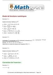Fichier PDF exercices etude de fonctions numeriques maths terminale 537