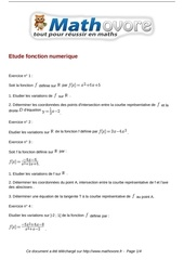 exercices etude fonction numerique maths premiere 106