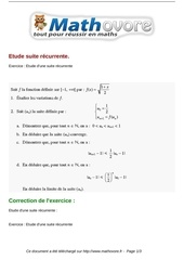 exercices etude suite recurrente maths terminale 192
