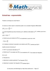 exercices extrait bac exponentielle maths terminale 157