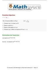 exercices fonction bijective maths terminale 176
