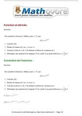 exercices fonction et derivee maths terminale 66
