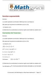 exercices fonction exponentielle maths terminale 570