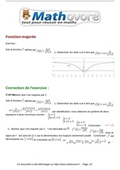exercices fonction majoree maths premiere 1121
