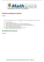 exercices fonction numerique et derivee maths terminale 428