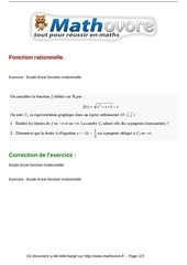 exercices fonction rationnelle maths terminale 193