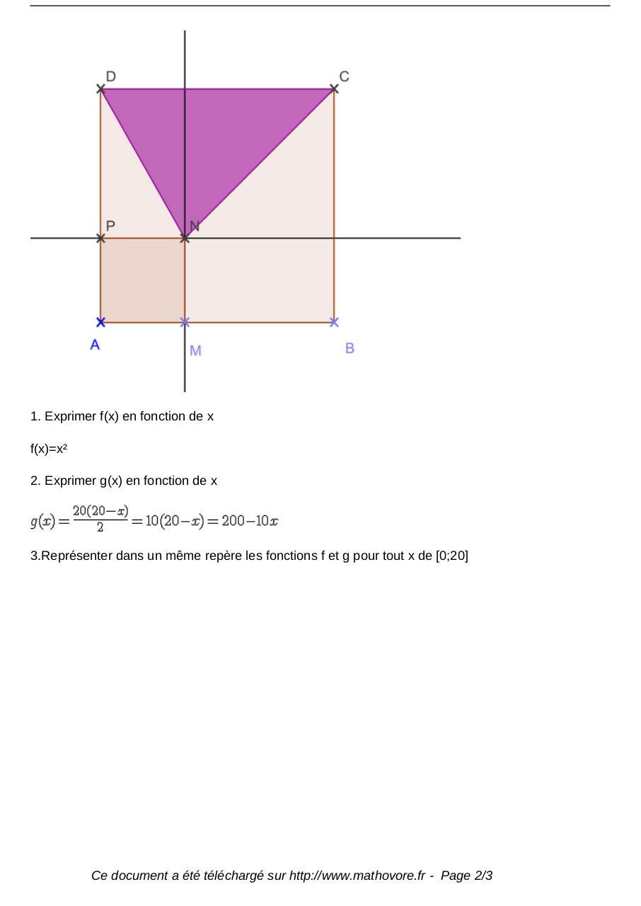 exercices-fonctions-et-geometrie-maths-seconde-566 ...