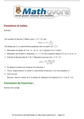 exercices fonctions et suites maths terminale 76