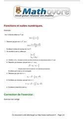 exercices fonctions et suites numeriques maths terminale 62