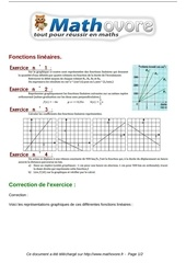 Fichier PDF exercices fonctions lineaires maths troisieme 343