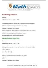 Fichier PDF exercices fonctions puissances maths terminale 1411