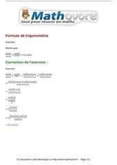 exercices formule de trigonometrie maths premiere 767