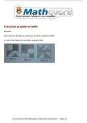 Fichier PDF exercices fractions et partie coloriee maths cinquieme 1456
