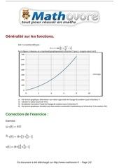 exercices generalite sur les fonctions maths troisieme 338