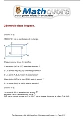 exercices geometrie dans l espace maths seconde 136