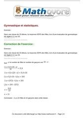 Fichier PDF exercices gymnastique et statistiques maths troisieme 823