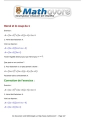 exercices herve et le coup du 1 maths seconde 1206
