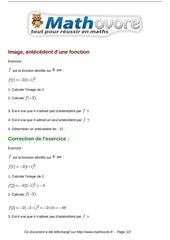 Fichier PDF exercices image antecedent d une fonction maths seconde 1202