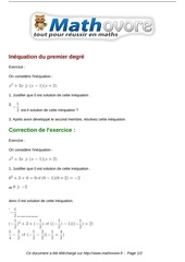 Fichier PDF exercices inequation du premier degre maths troisieme 512