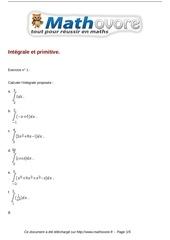 exercices integrale et primitive maths terminale 125