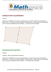 exercices isobarycentre et quadrilatere maths premiere 1085