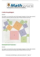 exercices l arbre de pythagore maths quatrieme 602