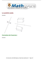 exercices la symetrie axiale maths sixieme 268