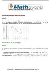 exercices lecture graphique et fonctions maths premiere 1031