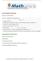 exercices les courbes de gauss maths terminale 54