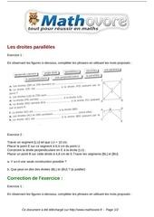 Fichier PDF exercices les droites paralleles maths sixieme 530