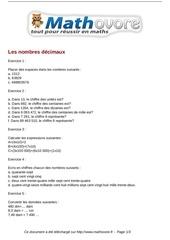 Fichier PDF exercices les nombres decimaux maths sixieme 531