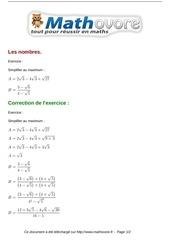 exercices les nombres maths seconde 357