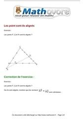exercices les point sont ils alignes maths seconde 985
