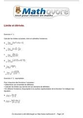 exercices limite et derivee maths terminale 165